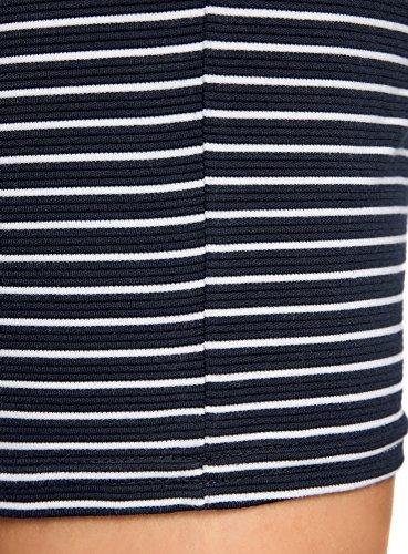 oodji Ultra Damen Jerseyrock Basic Blau (7910S)