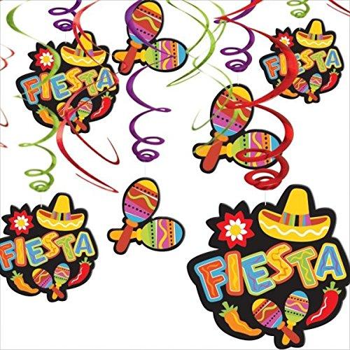 Amscan 203183 Fiesta Value Pack d-corations suspendues de remous