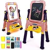NextX Kinder Tafel Maltafel Doodle Schreiben 2 in 1 Standtafel Lernspielzeug Geschenk für Jungen Mädchen UK-B665/_DHB