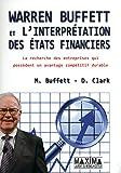 WARREN BUFFETT ET L'INTERPRETATION DES ETATS FINANCIERS