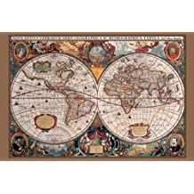 Amazon pyramid america 17th century world map poster print sciox Image collections