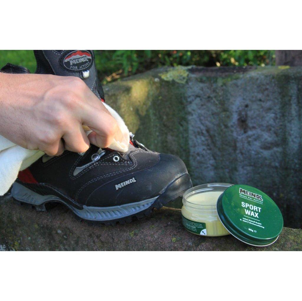 Meindl Sportwax XXL   2X 80 g Lederpflege Schuh Pflege für alle Lederschuhe und Stiefel + KULTURBEUTEL