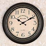 OLILEIOContinental Retro moderne, minimalistische kreative Persönlichkeit Mute Armbanduhr Quarzuhr amerikanische Schlafzimmer Wohnzimmer Uhr Second Hand (14 Zoll, 16 Zoll) ,16 Zoll, 34 Kurzwahleinträge