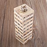 #10: Trinkets & More - JENGA Wooden Tumbling Tower | 48 Pieces Wooden (+ 4 Dices) Building Blocks | Stacking Toy Games for Kids 3+ Years and Adults