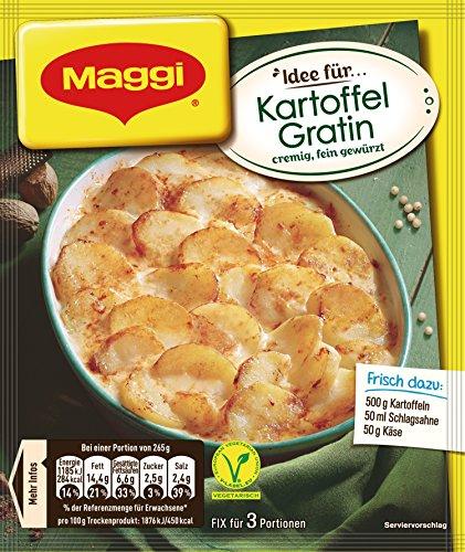 Maggi Fix für Kartoffel Gratin, ergibt 3 Portionen, 35er Pack (35 x 42 g)