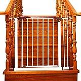 Barrière de sécurité Portes De Bébé pour Portes Pression Fit 65 À 152cm Réglable Chiot Pet Parc pour Porte De Porte D'escalier en Fer Blanc Sécurité Intérieure Porte (Taille : 75-82cm)