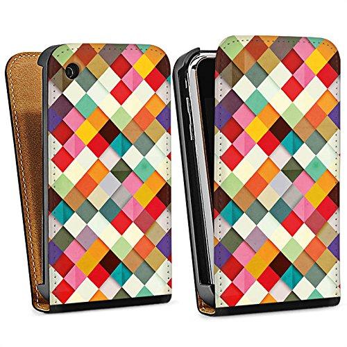 Apple iPhone 4 Housse Étui Silicone Coque Protection couleurs Motif Motif Sac Downflip noir