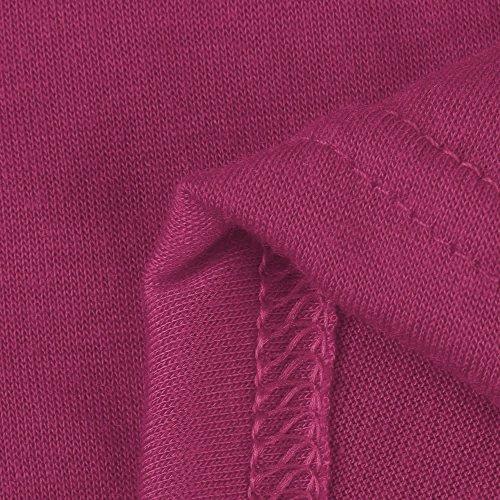 Ulanda-EU -  Maglia a manica lunga  - Donna Hot Pink