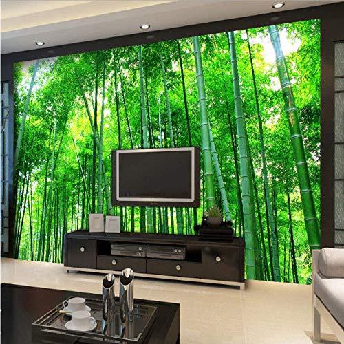 Zybnb personalizzato 3d wallpaper murale soggiorno camera da letto divano tv sfondo pittura murale foresta di bambù paesaggio murale carta rotolo