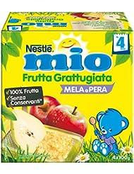 Nestlé Mio Frutta Grattugiata Mela e Pera da 4 Mesi, senza Glutine - 400 gr