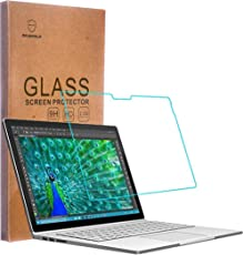 Mr Shield For Microsoft Surface Book [Tempered Glass] Screen Protector [0.3mm Ultra Thin 9H Hardness 2.5D Round Edge] with Lifetime Replacement Warranty