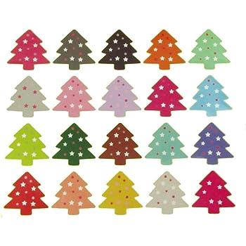 Ekunstreet 120pcs 28cm Round Christmas Stickers Labels Seals