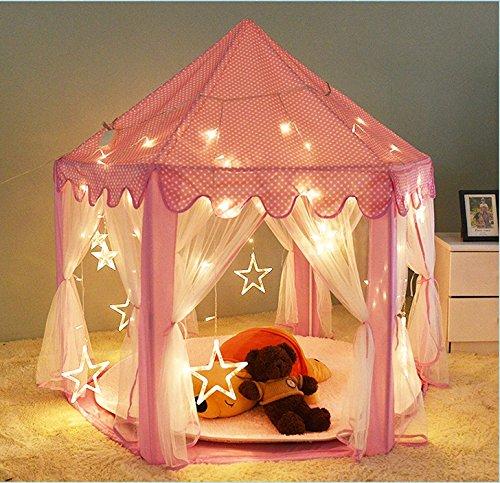 dalosdream-kids-indoor-princess-castle-play-tents-pink