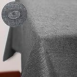 Deconovo Nappe Rectangulaire en Coton Impermeable Anti Tache pour Table 130x280cm Noire
