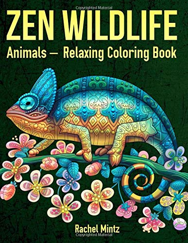 ZEN Wildlife Animals - Relaxing Coloring Book: Detailed Zentangle Patterns of Jungle Birds, Animals, Marine Life & Nature - For Adults & Teenagers Reef Snake