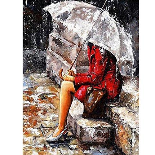 Zantec Transparente Regenschirm Frameless DIY Gemälde Handgemalte Bilder Liebhaber unter Umbrella Serie Digital - Halloween Katzen Pinterest