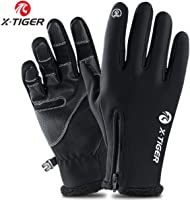 X-TIGER Guanti Invernali Antivento, Touchscreen Guanti Termici per Smartphone, per Moto MTB, Bici Ciclismo, Alpinismo...