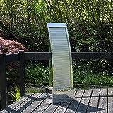 Köhko Terrassenbrunnen 21013 aus Edelstahl Höhe ca. 110 cm Wasserspiel Gartenbrunnen mit LED-Beleuchtung
