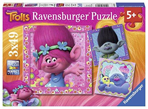 Trolls - Puzzle 3 x 49 piezas