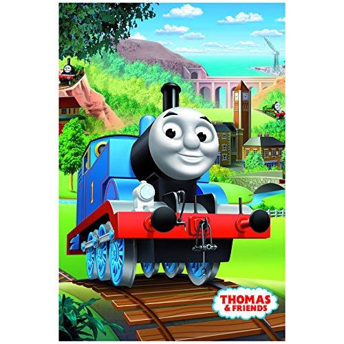 Jerry Fabrics Kinder Fleecedecke und Wurf, Thomas und Freunde Charakter, Polyester, Mehrfarbig, 150 x 150 x 0.3 cm Jerrys Fleece