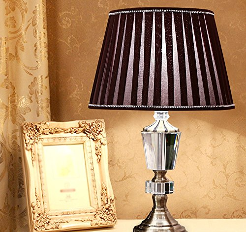 European Crystal Hardware Base Tisch Lampe Schlafzimmer Hochzeit Geschenke Stoff Schreibtisch Licht - Antike Messing Tisch Base