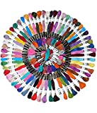 #9: Anchor Cross Stich/ Long Stich Embroidery Threads Multicolored Set Of 100 , 8 Mt Each Skeins