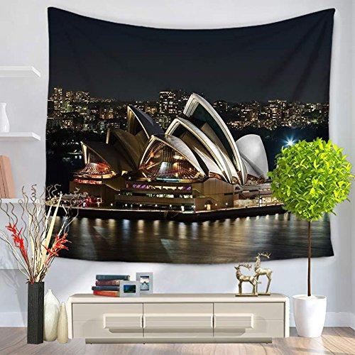 City Scenery Tapestry 100% poliestere–Memorecool telo mare casa appeso coperta ufficio coperte 149,9x 129,5cm, Poliestere, city34, 59x79inch city20