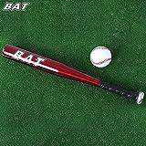 Ndier - Bate de béisbol para Deportes al Aire Libre, aleación de Aluminio, Color Rojo