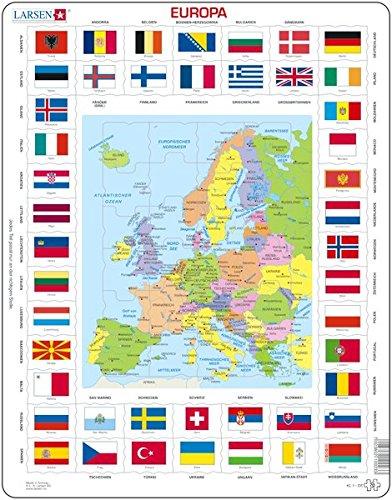 Larsen Puzzle KL1 Europa Flaggen