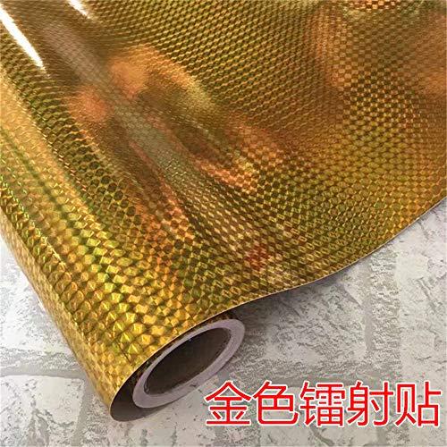 lsaiyy Selbstklebender Wandaufkleber DIY handgemachtes Packpapier Laser Lila Blau Grün Silber Gold Glitzer Sticker Haftnotiz Tapete- 45CMX10M