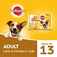 Pedigree Vital Protection Adult Wet Dog Food, Chicken & Lamb in Jelly, 13 Packs (13 x 400g)