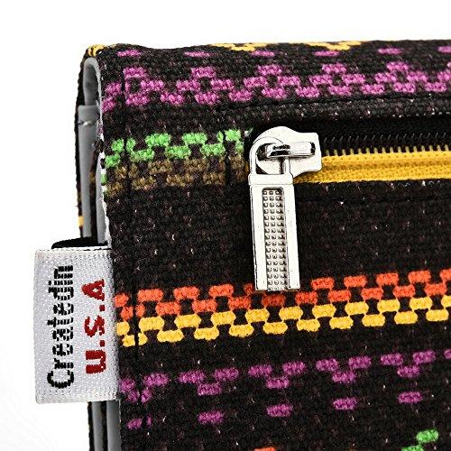 Kroo Téléphone portable Dragonne de transport étui avec porte-cartes compatible pour Xiaomi Redmi 1S/Mi 4/Mi 4I Multicolore - jaune Multicolore - jaune
