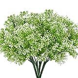 MIHOUNION 4 pezzi Impianti di arbusto artificiale di arbusti Mazzo di simulazione Stile pastorale Arrangiamento di fiori Decorazioni per la casa