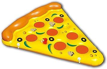 New Plast 0897 Materassino Gonfiabile, Forma di Pizza, Dimensioni 180 x 150 cm