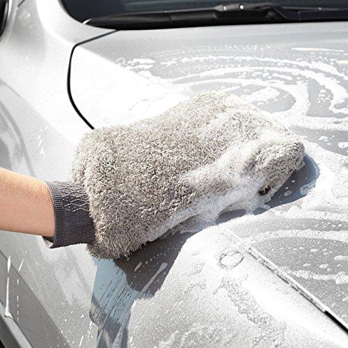AmazonBasics - Guanto in microfibra per la pulizia dell'auto