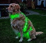 LED-3er-Hundegeschirr (L, grün)