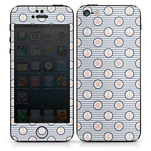 Apple iPhone SE Case Skin Sticker aus Vinyl-Folie Aufkleber Marine Sommer Seefahrt DesignSkins® glänzend
