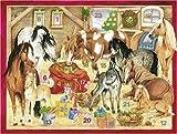 Pferde-Weihnacht im Stall. Adventskalender