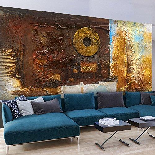 murando - Vlies Fototapete 500x280 cm - Vlies Tapete - Moderne Wanddeko - Design Tapete - gold Abstrakt - wie gemalt a-A-0239-a-a
