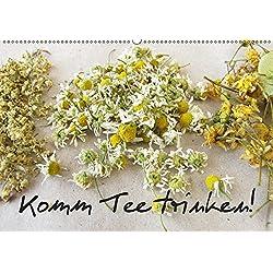 Komm Tee trinken! (Wandkalender 2019 DIN A2 quer): Ein Kalender mit zwölf stimmungsvollen Fotos von Tee und Teekräutern (Monatskalender, 14 Seiten ) (CALVENDO Lifestyle)