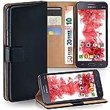 MoEx Samsung Galaxy Grand Prime | Hülle Schwarz mit Karten-Fach [OneFlow 360° Book Klapp-Hülle] Handytasche Kunst-Leder Handyhülle für Samsung Galaxy Grand Prime Case Flip Cover Schutzhülle Tasche
