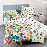 Janine Design Mako-Satin Bettwäsche modern art 42030-09 multicolor 135x200 cm + 80x80 cm