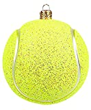 Unbekannt Christbaumschmuck Figuren Sport (Tennisball 5cm) Weihnachtskugeln Weihnachtsbaumschmuck Christbaumkugeln Deko Glas
