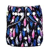 Kauftree 1/5er Baby Schwimmwindel Windelhose Babywindeln Überhose Cloth Waschbare Verstellbar mit Druckknopf Wasserfest Jungen Mädchen