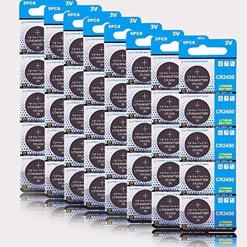 CR 2450 40er Votivkerzen,CR2450 Batterien 3V Lithium-Knopfzelle,Teelichter, Video, Computer,...