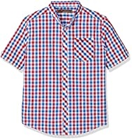 Ben Sherman Boy's Gingham Poplin Shirt, Red, 10-11 Years