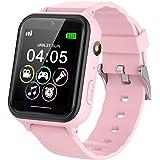 PTHTECHUS Smartwatch voor kinderen, telefoon - smartwatch kinderhorloge telefoonoproep met SOS-stappenteller, videorecorder z