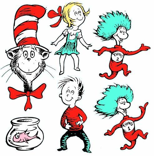 t Zeichen beidseitigen Deco Kits Dr. Seuss, Besetzung Einheitsgröße weiß ()