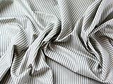 Inlett Streifen Weich Baumwolle Kleid Stoff hellblau–Meterware + Craft Guide