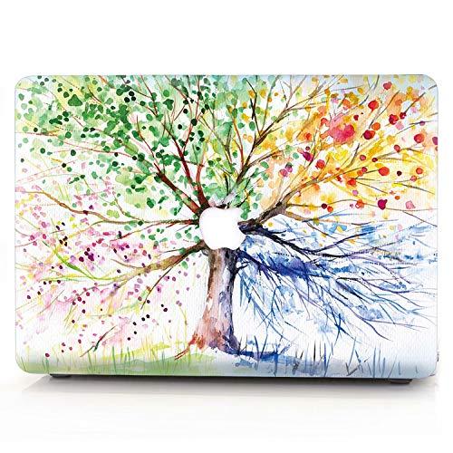 AQYLQ MacBook Schutzhülle/Hard Case Cover Laptop Hülle [Für MacBook Pro 13 Zoll - mit CD-Laufwerk: A1278], Ultradünne Matt Plastik Hartschale Tasche Schutzhülle, QCS-4 bunter Baum - Macbook Matt Pro-fall 13 Fall